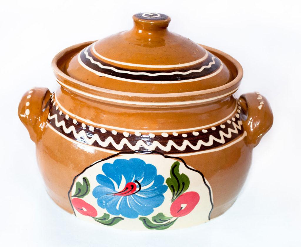 oala ceramica cu capac