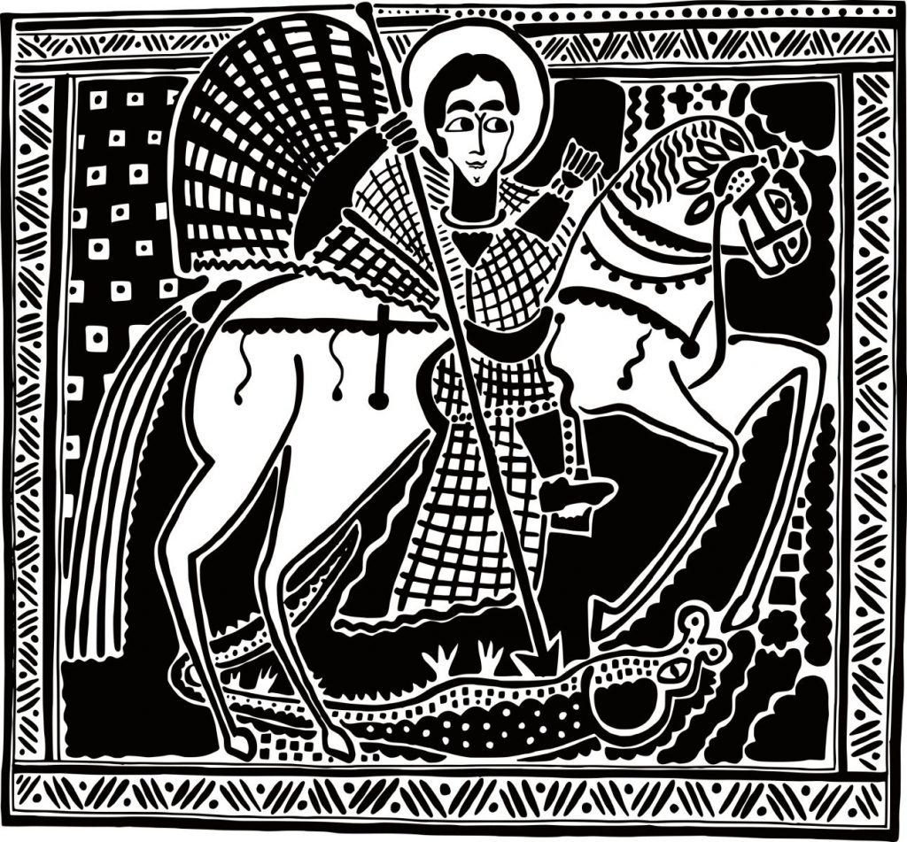 Sfantul Gheorghe omorand balaurul