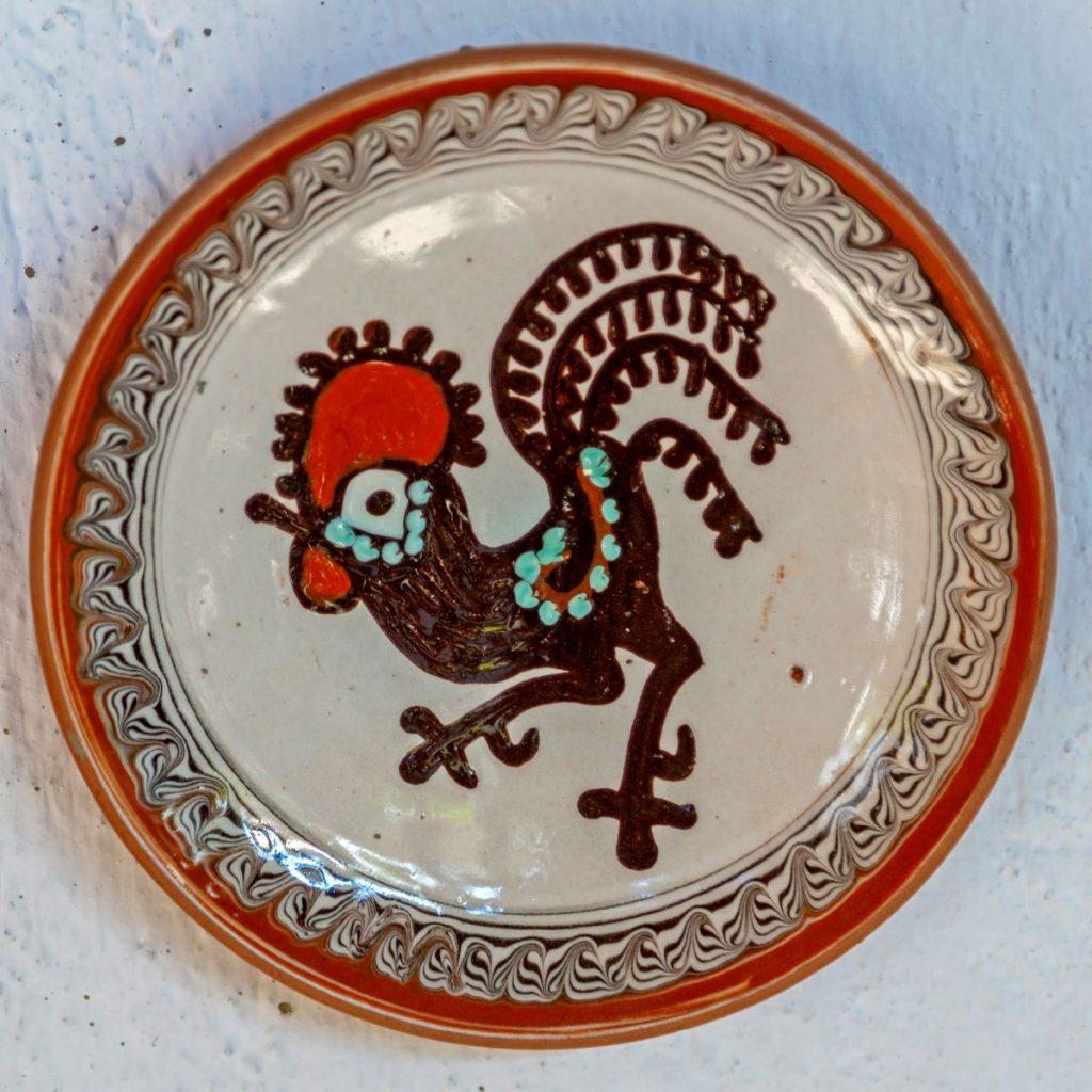 cocosul pe ceramica de Horezu